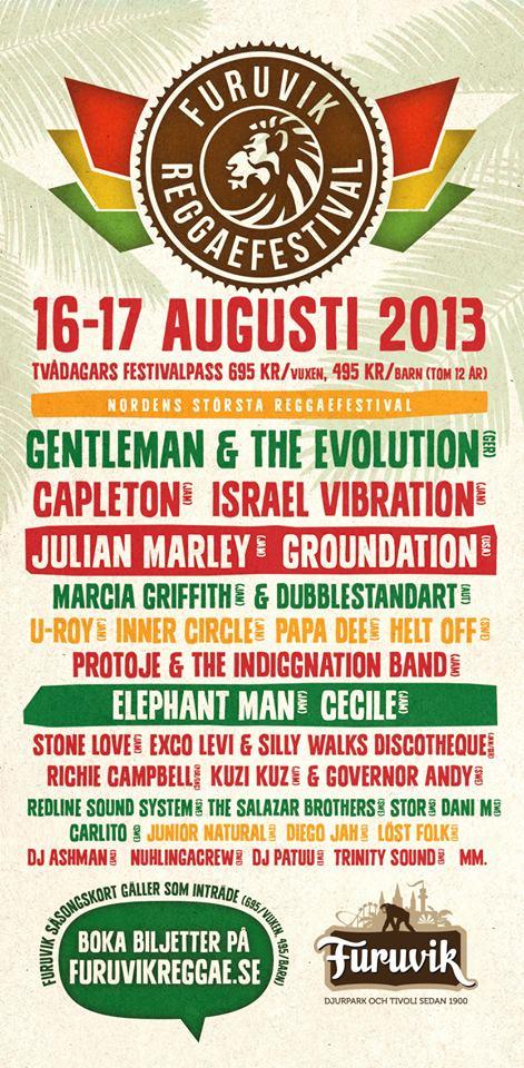 Reggae Festivalen 2013
